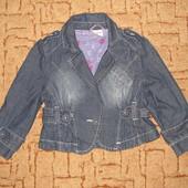 Куртка (пиджак) джинсовая на девочку 5-7 лет.