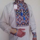 Мужская вышиванка лен (чоловіча вишиванка льон)