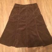 Женская коричневая юбка, теплая юбка в офис, зимняя юбка, осенняя юбка женская