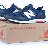 Кроссовки кожаные New Balance 368 мужские темно-синие