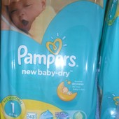 Памперс Pampers Active 1 для новонароджених