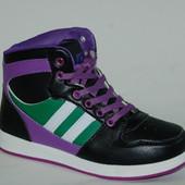 Кроссовки для мальчиков VANS черно-фиолетовые