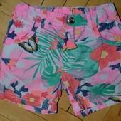 1 - 2 года 92 см Обалденные фирменные шорты девочке яркие и весёлые