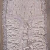Очень нарядный и удобный конверт на выписку из роддома унисекс
