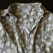 Рубашка с коротким рукавом цвета хаки (м)