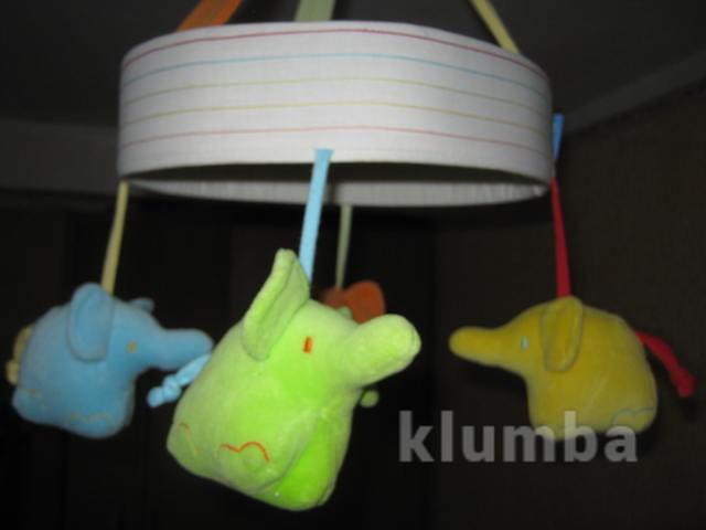 Подвесной мобиль с забавными слониками фото №1