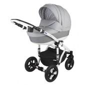 Универсальная коляска 2 в 1 Bebe-mobile Toscana PIK17, светло-серый/серый (стеганка)