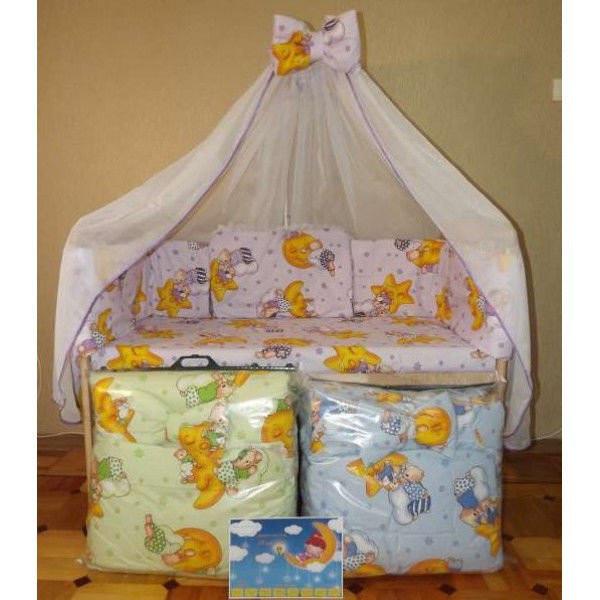 Кроватка+постель балдахин+ матрас кокос+ держатель фото №1