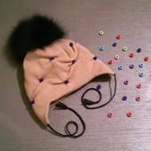 Двойная мериносовая шапочка