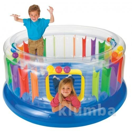 Батут детский надувной intex 48264 - радуга. фото №1