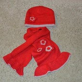 Комлект Gaialuna (шапка+шарф) р-12мес.