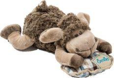Мягка игрушка овца валяша 30 см. овечка спит на подушке фото №1