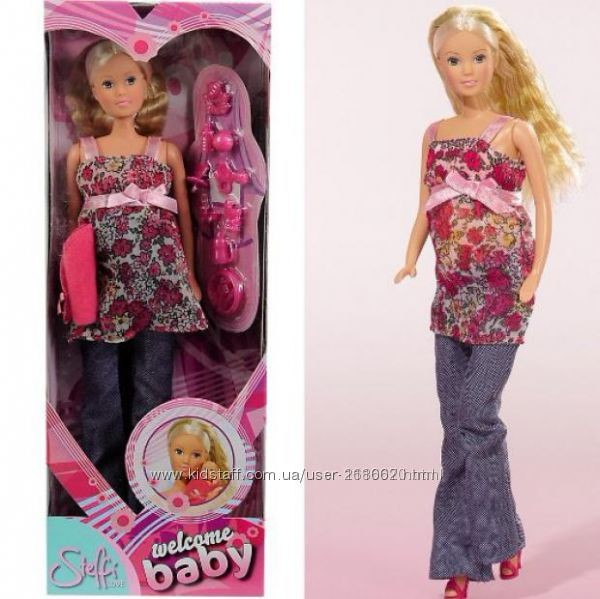 Кукла штеффи simba steffi беременная с младенцем 5734000 фото №4