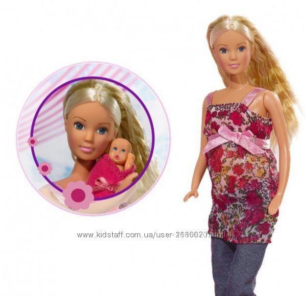 Кукла штеффи simba steffi беременная с младенцем 5734000 фото №5