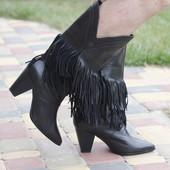 Тренд.Шикарные ботинки Zara.Кожа.Раз 39-40