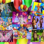 Услуги для праздника вашего ребенка мультяшный клип, видео поздравление, фотоклип