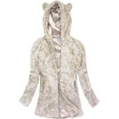 Женская демисезонная искусственная шуба  куртка с ушками