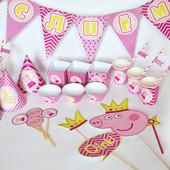 """""""Свинка Пеппа"""". Декор Candy Bar"""