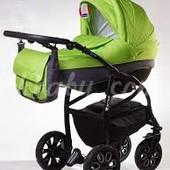 Универсальная коляска Adamex Active 505G, зеленый узор/графит