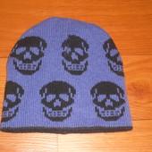 Двухсторонняя шапка на осень весну теплая!