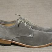 Шикарные туфли- дерби из натуральной замши серого цвета. LLoyd Hector.
