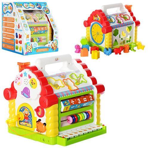 Логическая развивающая музыкальная игрушка-сортер теремок 9196: 8 мелодий, 8 функций фото №1