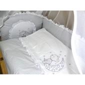 Детское постельное белье в кроватку. Код: 61/9 Клетка без вышивки