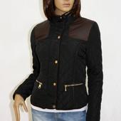 Женская стеганая черная куртка на весну