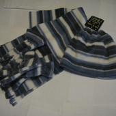 Набор шапка и перчатки и шарф для мальчика, флис, 4-6 лет