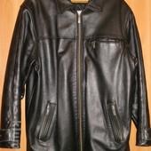 Добротна шкіряна, кожаная куртка демисезонная, демісезонна 50-52р.
