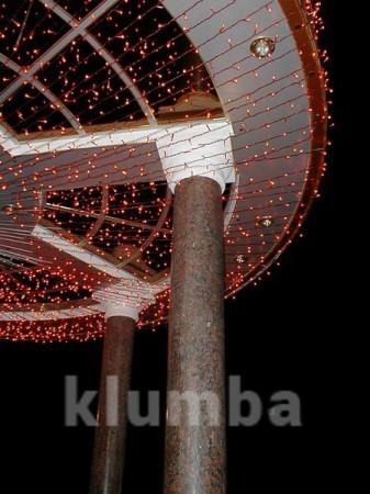 Гирлянда нить светодиодная,оформление новогодней площади фото №2