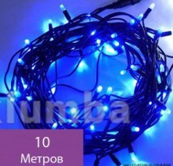 Гирлянда нить светодиодная,оформление новогодней площади фото №4