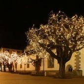 Гирлянда нить светодиодная,оформление новогодней площади