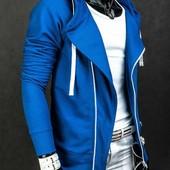 Стильная толстовка - худи Blue с капюшоном. Производства Украина