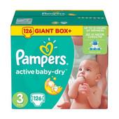 Памперс актив беби  3,4,4+,5 Giant Box Plus