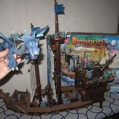 На 5-12 лет Огромный игровой набор Mega Bloks Dragons krystal Wars man-o-war battleship