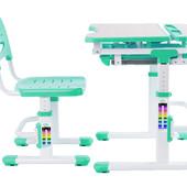 Комплект  парта и стул-трансформеры Fundesk Sorriso green