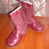 Кожаные зимние сапожки для девочки