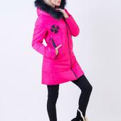 Модная зимняя куртка, с нашивками. Есть расцветки. Размеры: с, м, л (3