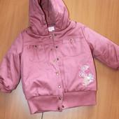 теплая куртка на девочку размер 4