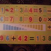 деревянная рамка-вкладыш математика помогает выучить цифры и развивает математические навыки