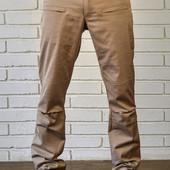 Стильные зауженные брюки с карманами Бежевые. Производства Украина