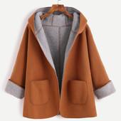 Пальто с капюшоном на подкладе