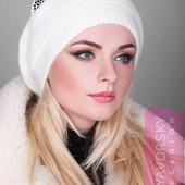 Модная, тёплая вязаная шапка с ушками!!! 8 цветов!