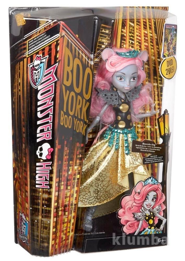 Мауседес кинг серия бу йорк, бу йорк monster high boo york gala ghoulfriends mouscedes king doll фото №1