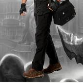 Тактические брюки ткань рип стоп Черные.Украина
