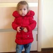 Классная демисезонная курточка девочке 3-4 года
