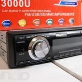 Автомагнитола Pioneer 3000 USB c пультом и шахтой