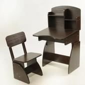 Акция до 31.05.17г! Детская парта + стульчик растущие Венге, Финэкс