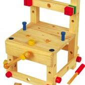 Конструктор-стульчик большой, Мир деревянных игрушек
